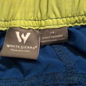 White Sierra Bottoms - Boys White Sierra bright blue shorts medium
